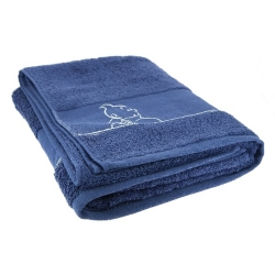 Bath towel Tintin 100% Cotton - Blue (130x70cm)