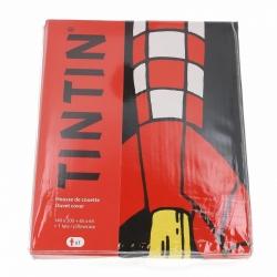 Housse de couette et taie d'oreiller Tintin, la fusée lunaire (140x200cm)