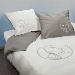 Duvet Cover and Pillowcase Tintin and Snowy 100% Cotton (240x200cm)
