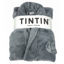 Unisex Adult Bathrobe Moulinsart Tintin Grey (S-M)