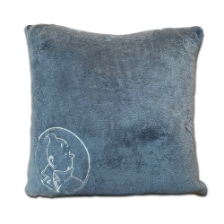Coussin Moulinsart Tintin 100% Polyester - Gris (45x45cm)