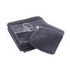 Serviette de bain et Gant de toilette Tintin 100% Coton - Gris (100x50cm)