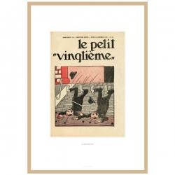 Litografía Tintín Le Petit Vingtième El Loto Azul 1935 23545 (30x20cm)