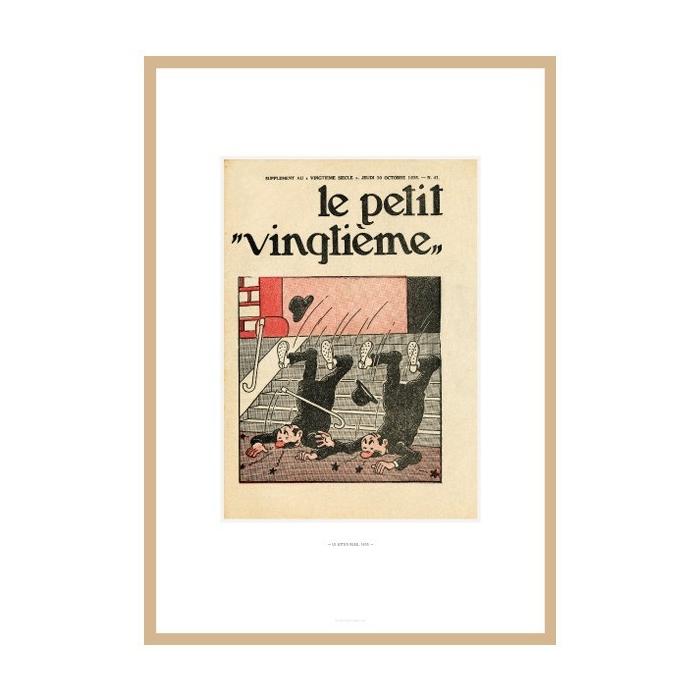 Lithograph Tintin Le Petit Vingtième The Blue Lotus 1935 23545 (30x20cm)