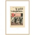 Cadre Lithographie Tintin Le Petit Vingtième Le Lotus Bleu 1935 23545 (37x52cm)