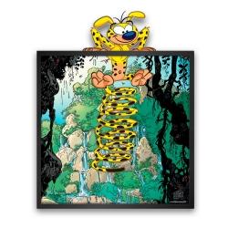 Tableau cadre collection Funky Frames Le Marsupilami, Échappée Belle (50x50cm)