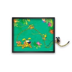 Tableau cadre collection Funky Frames Le Marsupilami, Toboggan (50x50cm)