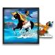 Cuadro colección Funky Frames Yakari, Pequeño Trueno y Arco-iris (50x50cm)