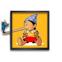 Collectible Frame Funky Frames Pinocchio, The lie (50x50cm)