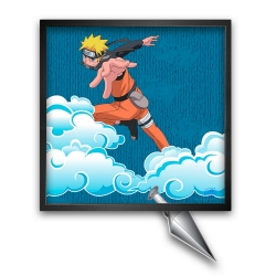 Tableau cadre collection Funky Frames Naruto, Lancé mortel (50x50cm)