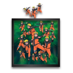 Tableau cadre collection Funky Frames Naruto, Multiclonage (50x50cm)