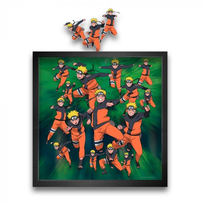 Cuadro colección Funky Frames Naruto, Multiclonación (50x50cm)