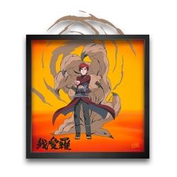 Tableau cadre collection Funky Frames Naruto, Tempête du désert (50x50cm)