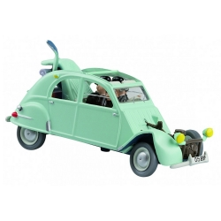 Voiture de collection Tintin La 2CV Citroën emboutie Nº04 29504 (2012)