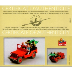 Figura de colección La Jeep Roja Tintín en el país del oro negro Nº1 29501 2013