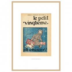 Litografía Tintín Le Petit Vingtième La oreja rota 23546 (30x20cm)