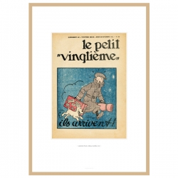 Framed Lithograph Tintin Le Petit Vingtième The Broken Ear 23546 (30x20cm)