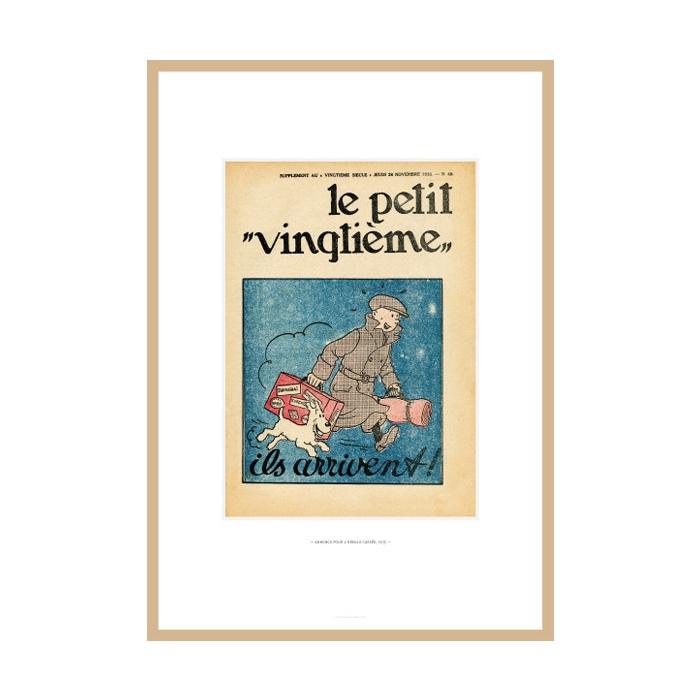 Lithograph Tintin Le Petit Vingtième The Broken Ear 23546 (30x20cm)
