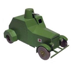 Collectible car Tintin, the Japanese armoured vehicle Nº22 29573 (2013)