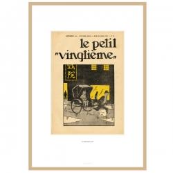Litografía Tintín Le Petit Vingtième El Loto Azul 1935 23544 (30x20cm)