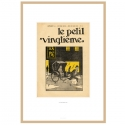 Framed Lithograph Tintin Le Petit Vingtième The Blue Lotus 1935 23544 (37x52cm)