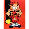 Poster Offset Tome & Janry, Young Spirou making a face (30x40cm)