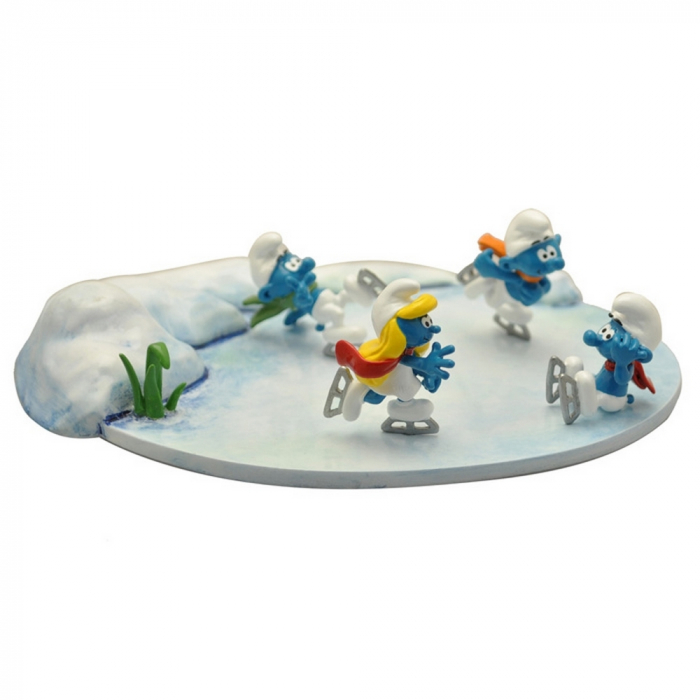 Collectible scene Pixi The Smurfs ice skaters 6455 (2019)