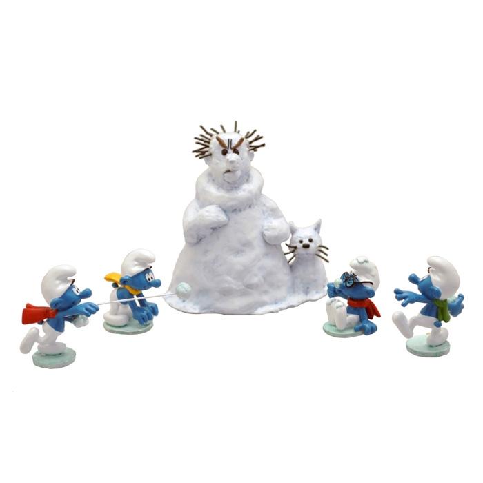 Escena de colección Pixi Los Pitufos y la batalla de bolas de nieve 6456 (2019)