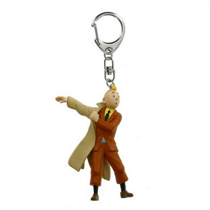 Keyring chain figurine Tintin wearing his coat 5,5cm Moulinsart 42479 (2011)