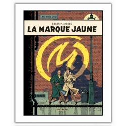 Poster affiche offset Blake et Mortimer, La Marque Jaune (28x35,5cm)