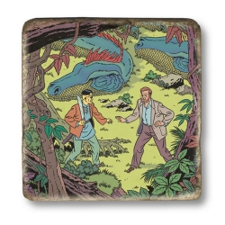 Plaque marbre collection Blake et Mortimer La Vallée des immortels 2 (20x20cm)