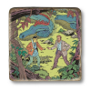 Plaque marbre collection Blake et Mortimer La Vallée des immortels T2 (20x20cm)