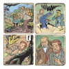 Marbles signs Blake and Mortimer Valley of the Immortals T2 (5x5cm)