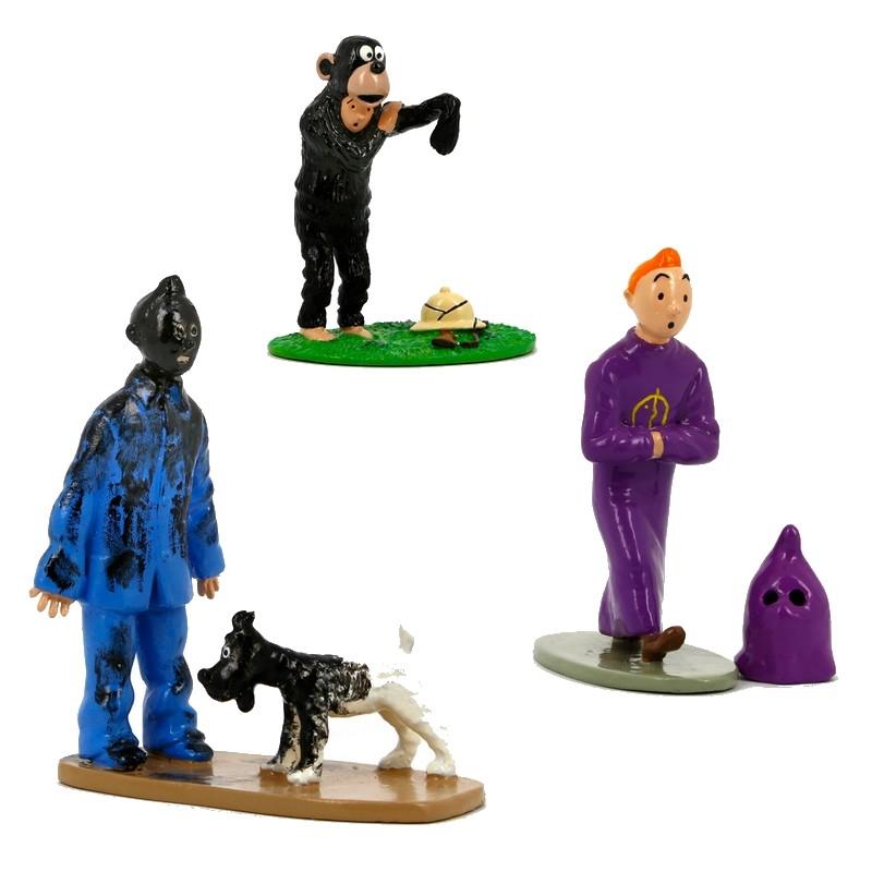 Estatuilla de colección Pixi/Moulinsart Tintin Trio 46220 (2018)