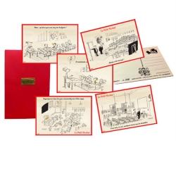 Set de 5 postales en madera colección Akimoff El pequeño Nicolás LPN020 (2019)