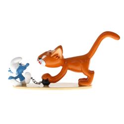 Collectible figurine Pixi The Smurfs, Azraël and Prisoner Smurf 6459 (2020)