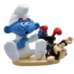 Collectible figurine Pixi Smurfs, Baby Smurf and his doll Gargamel 6462 (2020)
