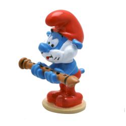 Figura de colección Pixi Los Pitufos, Papá Pitufo y la flauta 6463 (2020)