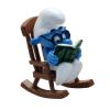 Figurine de collection Pixi Schtroumpf à lunettes dans rocking-chair 6465 (2020)