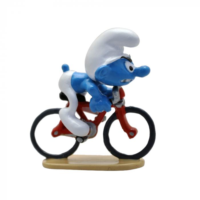 Figurine de collection Pixi Les Schtroumpfs, le Schtroumpf cycliste 6466 (2020)