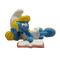 Collectible figurine Pixi The Smurfs, Smurfette reading 6467 (2020)