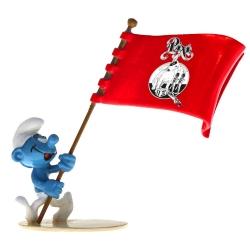 Figurita Pixi Los Pitufos, Pitufo portador de la bandera Pixi 6472 (2020)