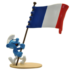 Collectible figurine Pixi The Smurfs, French flag carrier Smurf 6469 (2020)