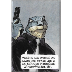 Decorative magnet Blacksad, mettons les choses au clair (55x79mm)