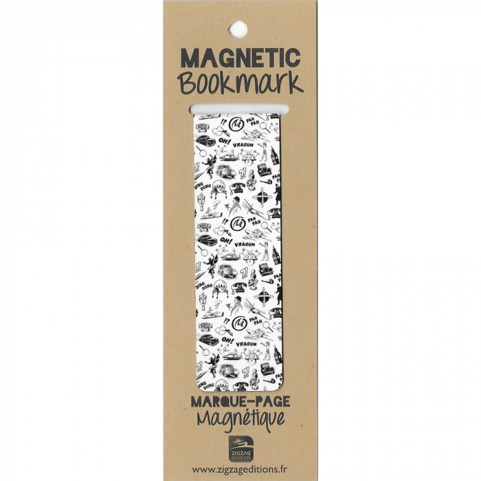 Magnetic Bookmark Blake and Mortimer, Black and white drawings (25x80mm)