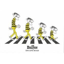 Postal de Lucky Luke: Los Hermanos Dalton Escape Road (15x10cm)