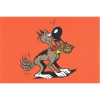 Postcard Lucky Luke: Rantanplan at your service (15x10cm)