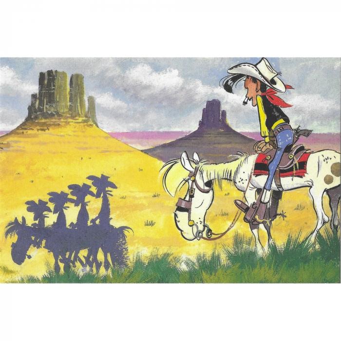 Postcard Lucky Luke: Daltons shadow (15x10cm)