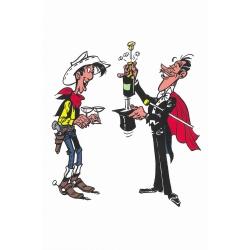 Postal de Lucky Luke: Champagne !! (10x15cm)