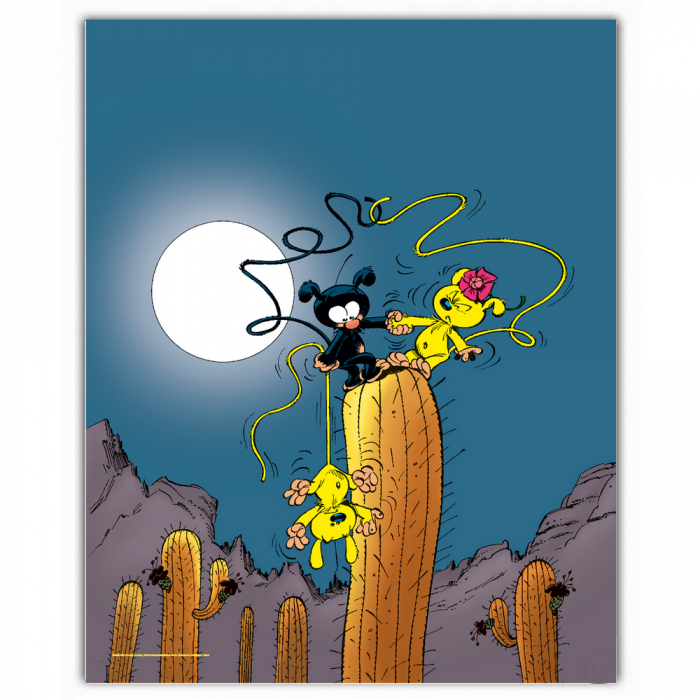 Poster offset Marsupilami, In the moonlight (28x35,5cm)